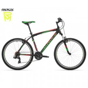 "bicykel Rock Machine Manhattan 30 - 26"" black/green/red"