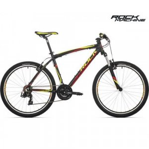 "bicykel Rock Machine Manhattan 50 - 26"" black/red/yellow"