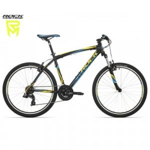 "bicykel Rock Machine Manhattan 50 - 26"" black/blue/yellow"